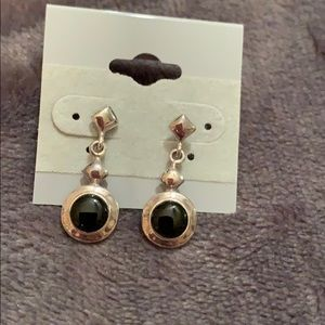 Jewelry - 925 silver and onyx stud earrings